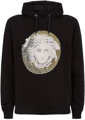 Versace Embellished Medusa Hoodie