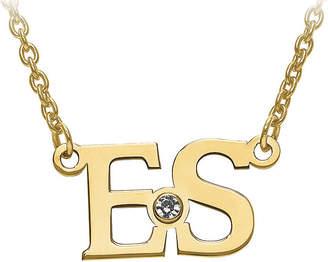 7926b14364d3f ... FINE JEWELRY Personalized Birthstone 2 Initial Necklace