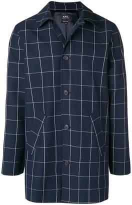 A.P.C. grid print shirt jacket