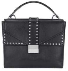 BOSS Hugo Top-handle bag in smooth Italian leather One Size Black