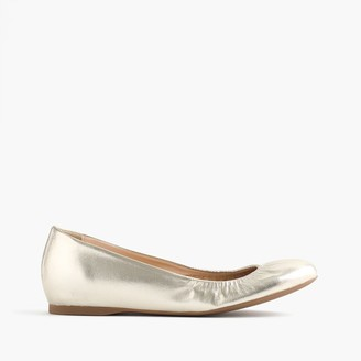 Cece Italian-made ballet flats in metallic leather $138 thestylecure.com