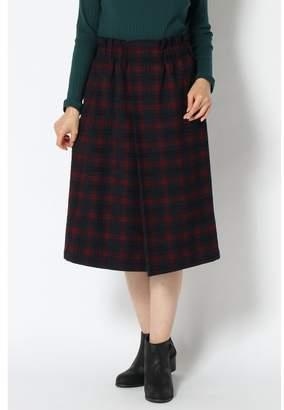 Ikka (イッカ) - [ikka]モールチェックセミAラインスカート