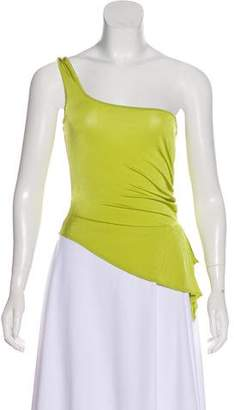 Versace Asymmetrical One-Shoulder Top