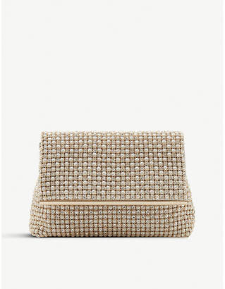 Dune Cream Everlina Diamante Embellished Clutch Bag