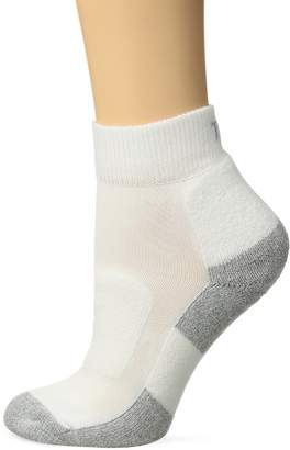 Thorlo Women's Thin Cushion Walking Mini Crew Sock, /Platinum