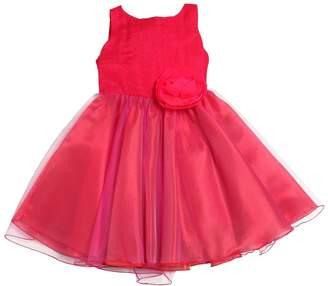 La Stupenderia Woven Silk Blend & Stretch Tulle Dress