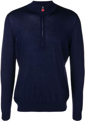 Kiton half-zip knitted sweater