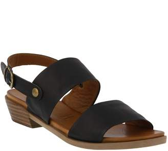 Spring Step Leather Ankle-Strap Sandals - Alelina