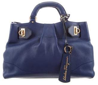 Salvatore Ferragamo Grained Leather Satchel