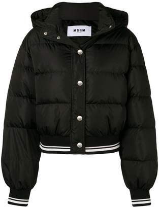 MSGM cropped padded jacket