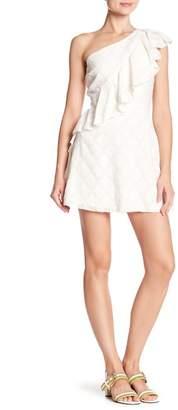 Tularosa Aria Ruffle One-Shoulder Dress