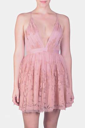 Luxxel Floral Mini Party-Dress