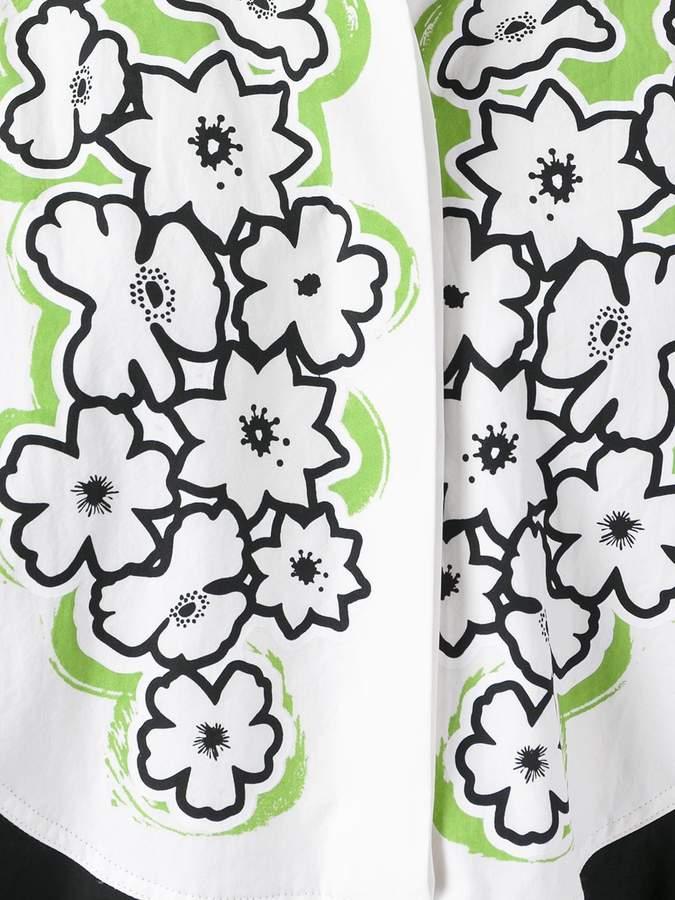 Tomas Maier embroidered bib dress
