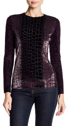Petit Pois BY VIVIANA G Dual Patterned Crew Neck Top