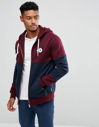 Converse Chuck Patch Zip Hoodie In Red 10004628-A02