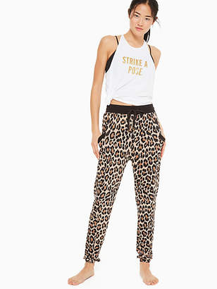 Kate Spade Leopard-print terry jogger