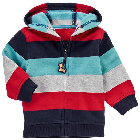 Gymboree Stripe Fleece Hoodie