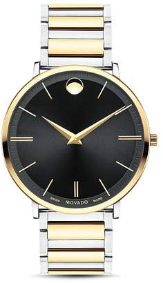 Movado Ultra Slim Two-Tone Watch, 40mm