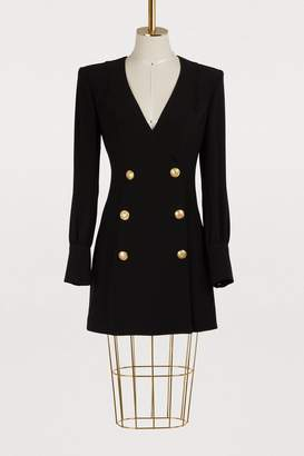 Balmain Crepe mini dress