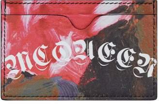 Alexander McQueen Painted Logo Card Holder