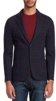 Emporio Armani Window Pane Soft Jacket