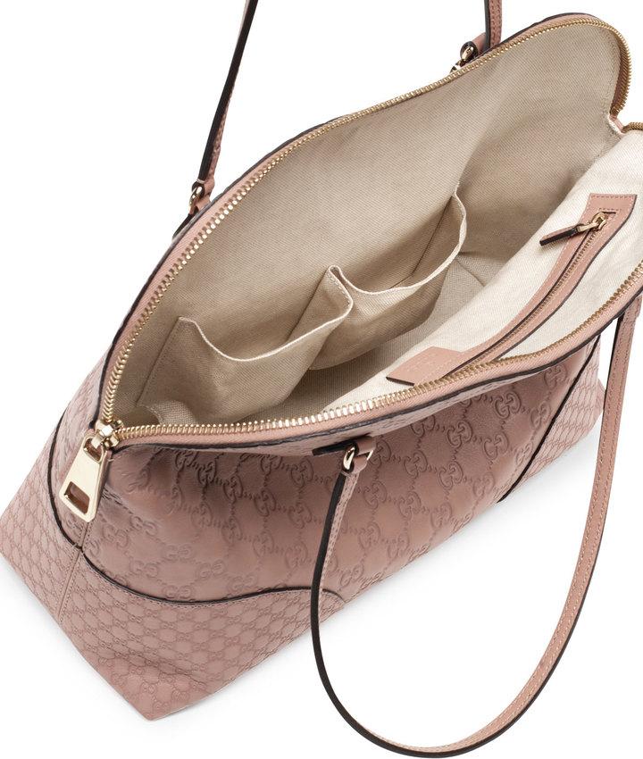 Gucci Bree Guccissima Leather Shoulder Bag, Tan/Nude