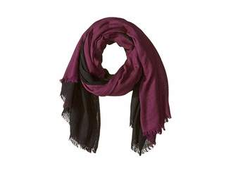 Love Quotes Travel Weight Cashmere Dip-Dye Wrap Scarf