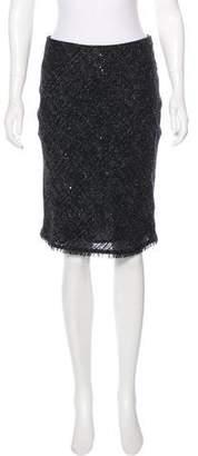 Burberry Sequin Pencil Skirt
