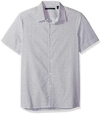 Perry Ellis Men's Short Sleeve Dot Printed Shirt