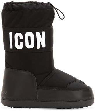DSQUARED2 Icon Nylon & Leather Snow Boots