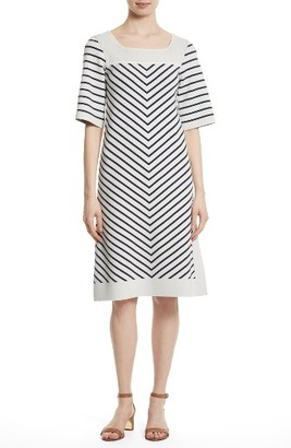 Women's Tory Burch Anya Stripe Knit Shift Dress $425 thestylecure.com