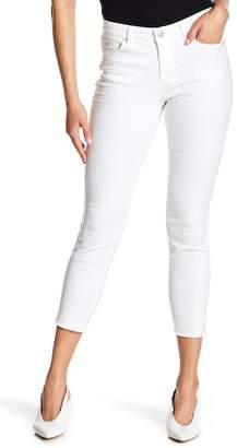Nine West Gramercy Frayed Hem Skinny Crop Jeans