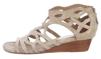 Donald J Pliner Metallic Wedge Sandals