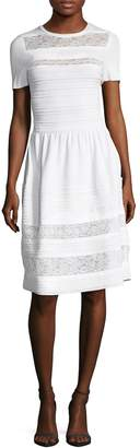 Oscar de la Renta Women's Crewneck Lace Dress