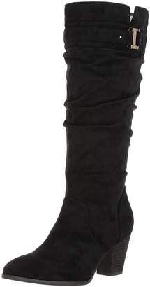 Dr. Scholl's Shoes Women's Devote Wide Calf Riding Boot, Black