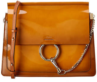 Chloé Faye Patent & Leather Shoulder Bag