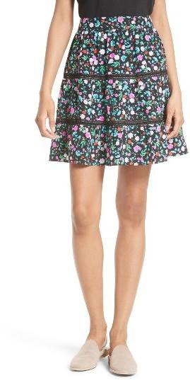 Women's Kate Spade New York Greenhouse Silk Miniskirt