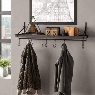 Williston Forge Audette Shelf with Adjustable Hooks Williston Forge