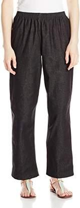 Alfred Dunner Women's Petite Black Denim Proportioned Short Pant