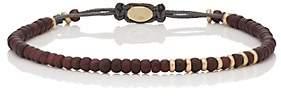 M. Cohen Men's Garnet & Yellow Gold Beaded Bracelet-Brown