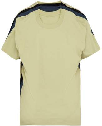 Y/Project Four Layer Cotton T Shirt - Mens - Light Green