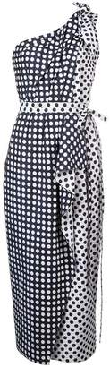 Carolina Herrera polka-dot asymmetric dress
