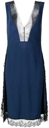 Neil Barrett lace-trimmed dress