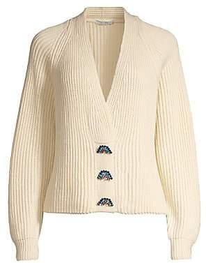Olivia Rubin Women's Tally Wide-Ribbed Cardigan Sweater
