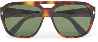 Tom Ford Bachardy Aviator-Style Tortoiseshell Acetate Sunglasses