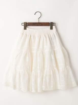 goa (ゴア) - goa コットンチュール 刺繍 & トーションレース スカート スカート