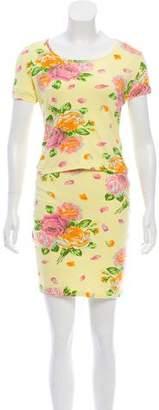 Kenzo Floral Mini Skirt Set