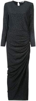 Veronica Beard ruched dotted dress