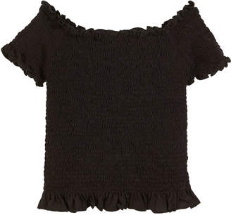 Flowers by Zoe Smocked Off-the-Shoulder Top, Size S-XL