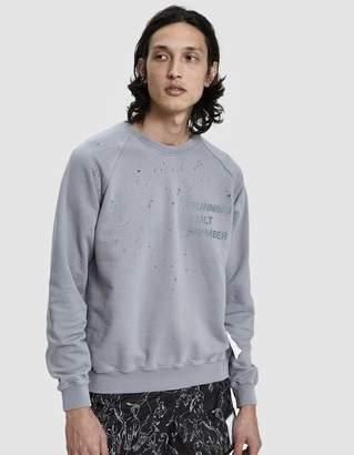 Satisfy Cult Moth Eaten Sweatshirt in Fog